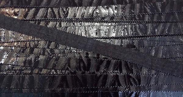 Borte Lederimitat / Kunstleder mit Tierfellmuster matt/glänzend 14 mm