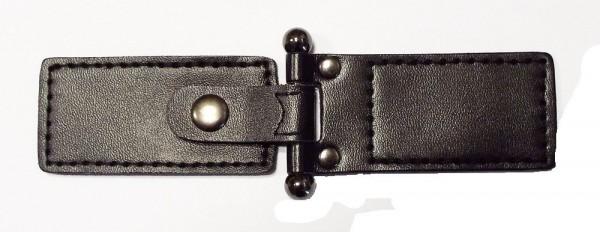 Bekleidungsverschluß schwarz silber brüniert 45 x 135 mm