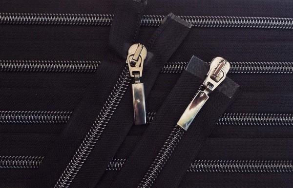 RV schwarz, 045 cm Kunststoff teilbar 2-Wege Spirale