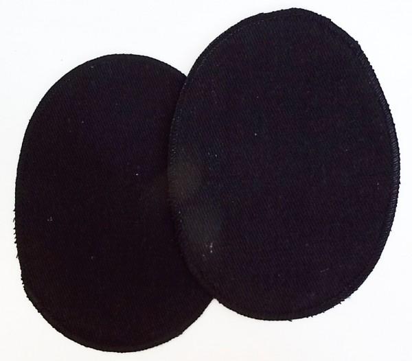 1 Paar Patches Jeans, oval 16 x 11,5 cm schwarz zum aufkleben