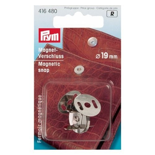 Magnet-Verschluß 19 mm silberfarbig