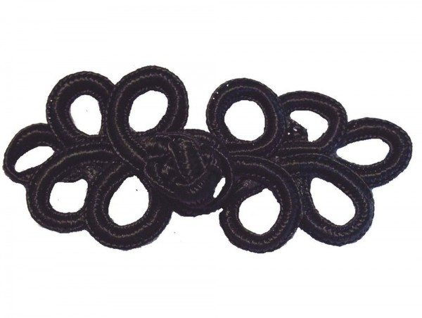 Posamentenverschluß schwarz 80 x 30 mm