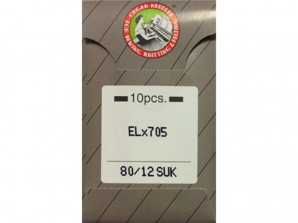 Nähmaschinennadeln EL x 705 SUK 80 Chromium