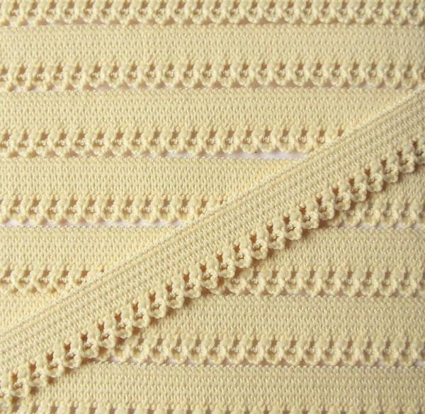 Wäschespitze elastisch 12 mm vanille