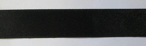 Satinband Double Face 16 mm schwarz