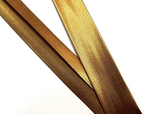 Satinschrägband hell braun 18 mm