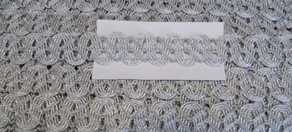 Borte Lurex 25 mm (silber)