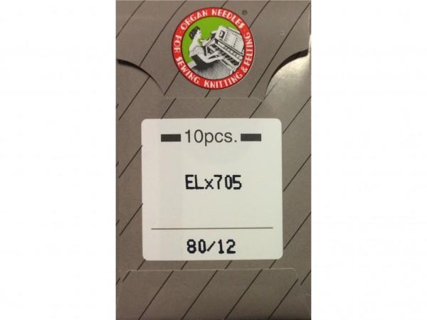 Nähmaschinennadeln EL x 705 Chromium 80