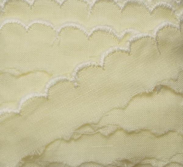 8,70 m Baumwollspitze zart gelb 15 mm