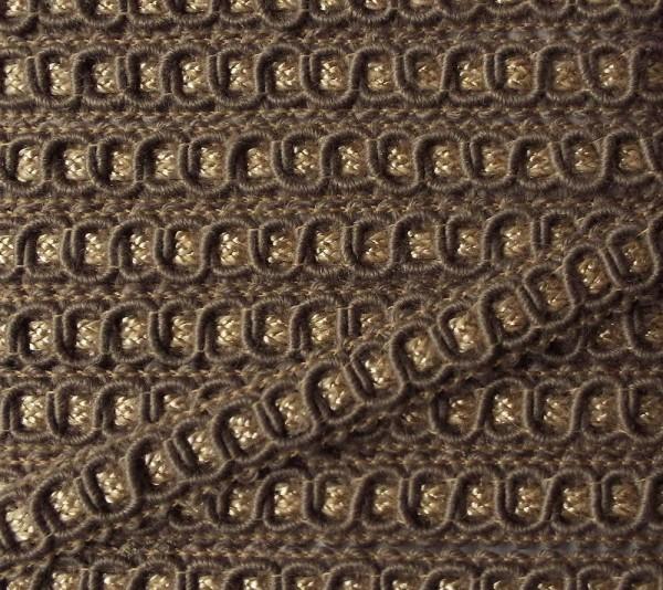 Posamentenborte 10 mm beige/Gold