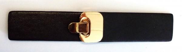 Bekleidungsverschluss zum umklappen 13,5 x 2,5 cm (schwarz/gold)