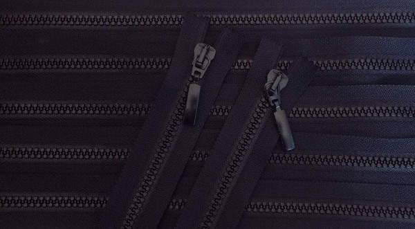 RV schwarz, 043 cm Kunststoff teilbar 2-Wege Krampe