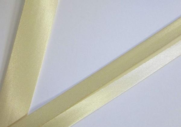 Satinschrägband helles beige 20 mm