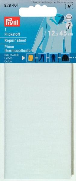 Flickstoff CO (bügeln) 12 x 45 cm weiß