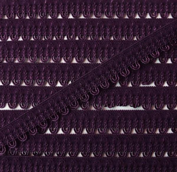Wäschespitze elastisch 11 mm aubergine