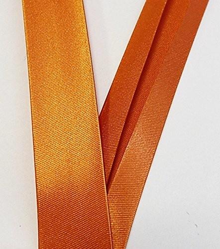 Satinschrägband orange 18 mm