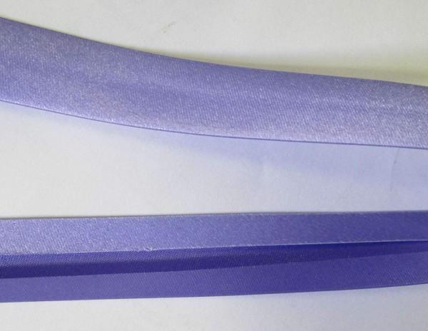 Satinschrägband flieder / violett 20 mm