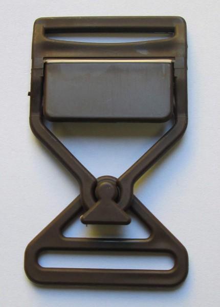 Steckschnalle dunkel braun Steg 35 mm