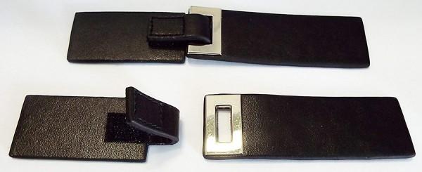 Bekleidungsverschluss schwarz mit Klettband 16 cm
