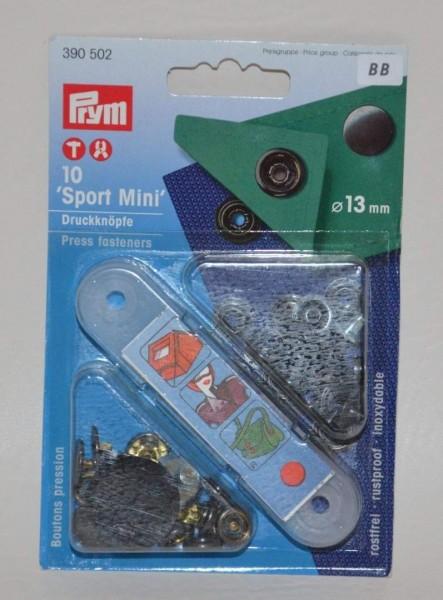 NF-Druckknopf Sport Mini MS 13 mm brüniert