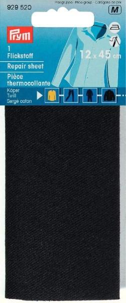 Flickstoff Köper (bügeln) 12 x 45 cm schwarz