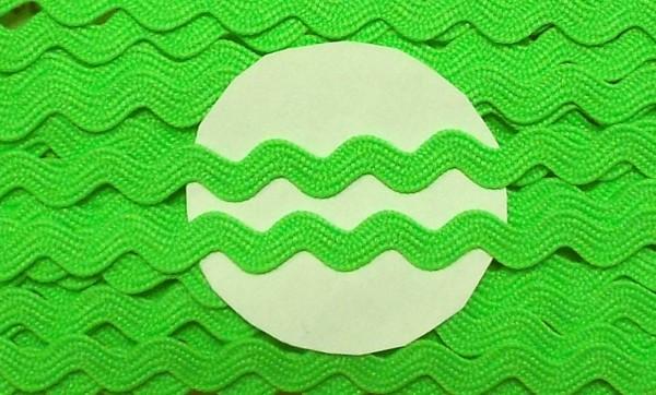 Zackenlitze 9 mm neon grün