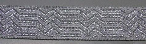 Uniform Tresse silber 25 mm