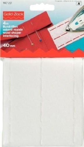 Bund-Vlies perforiert 40 mm weiß