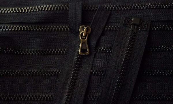 RV schwarz, 052 cm Kunststoff teilbar Krampe