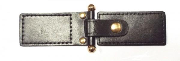 Bekleidungsverschluß schwarz gold 45 x 135 mm